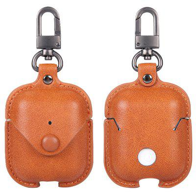 Naxtop Soft Cover Luxury Leather Storage Bag Bluetooth Earphone Protective Case for AirPods 1 / 2
