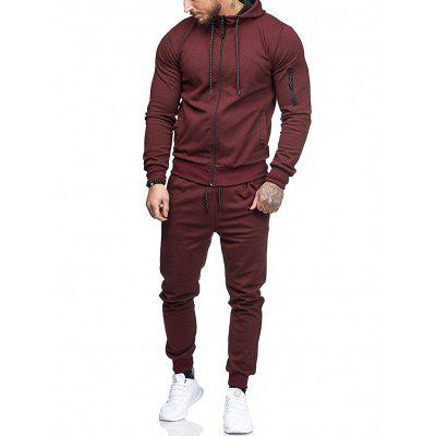 Men's Tide Casual Tracksuit with Drawstring + Unique Arm Pocket