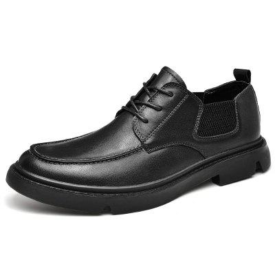 AILADUN Men Low-top Lace-up British Casual Shoes Genuine Leather Big Size Footwear