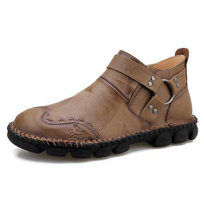 AILADUN Herren Einzigartige Ring Dekor Schuhe Slip-on Heavy-bottomed Anti-Rutsch Outdoor Schuhe
