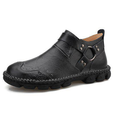 AILADUN Men's Unique Ring Decor Schoenen Slip-on met dikke bodem Non-slip Outdoor Footwear