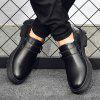 AILADUN Men Low-top Slip-on British Casual Shoes Genuine Leather Large Size Pin Buckle Footwear - BLACK