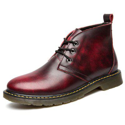 Men's Casual Brush-off Boots Fashion Tooling Shoe Lace Up