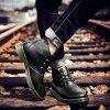 Men's Casual Brush-off Boots Fashion Tooling Shoe Lace Up - BLACK
