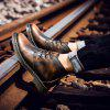 Heren Casual Brush-off Boots Fashion Tooling Shoe Lace Up - KOFFIE