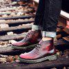 Heren Casual Brush-off Boots Fashion Tooling Shoe Lace Up - RODE WIJN