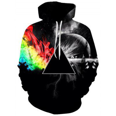 gearbest.com - Men's Galaxy Space Pattern Hoodie 3D Digital Printing Pullover Sweater