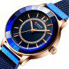 Curren 9066 Women Stylish Simplicity Rhinestone Dial Watch Waterproof Durable Stainless Steel Band - BLUEBERRY BLUE