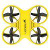 L6065 Mini RC Quadcopter Infrared Controlled Drone 2.4GHz Aircraft met LED-licht 6-assige System 4-kanaals - GEEL