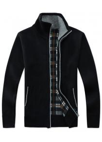 Comfy Mens Simple Turn Down Collar Solid Colored Knitting Cardigan Clothing & Accessories Sweaters