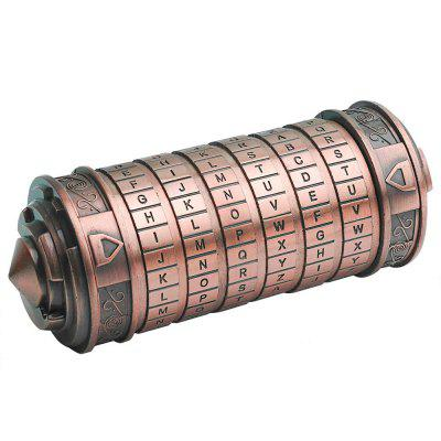 Mini Da Vinci Code Cryptex Lock Toy Interesting Gifts for Festivals Birthday Annversary