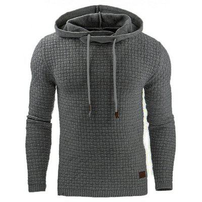 Men's Herfst Winter Knit Hoodie Solid Color Sweater Casual lange mouwen T-shirt