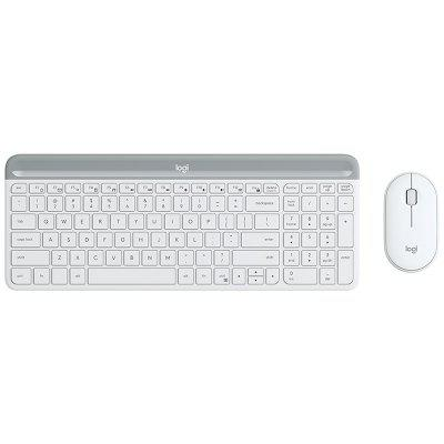 Logitech MK470 108 Keys Wireless Nano Receiver Keyboard 2.4GHz Slim 1000DPI Optical Mouse Set Combo