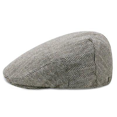 B0085 Men Stripes Print Beret Thick Keep Warm Hat