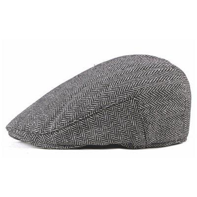 Homens Idosos Concise Beret Vintage Peaked Hat Chapelaria Casual