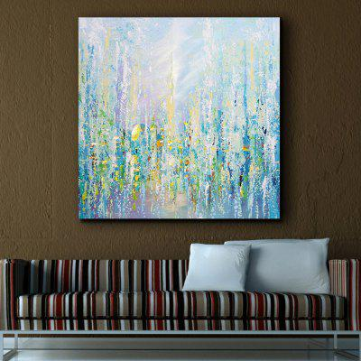 QINGYAZI HQ09001 Hand Drawn Abstract Frameless Oil Painting Home Wall Art