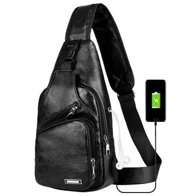 USB Charging Chest Bag Casual Fashion