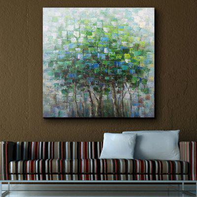 QINGYAZI HQ09004 Hand-painted Abstract Frameless Oil Painting Home Wall Art