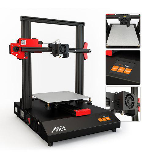 Anet ET4 Touch Control 3D Printer Quick Assembly 220 x 220 x 250mm Print Area Automatic Leveling Filament Detection Offline Upgrade for Wide Applications