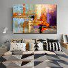 QINGYAZI HQ09002 Ręcznie malowane Painting Abstract Bezramowa Oil Home Wall Art - MULTI-A