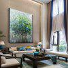 QINGYAZI HQ09004 Hand-painted Abstract Frameless Oil Painting Home Wall Art - MULTI-A