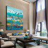 QINGYAZI HQ09008 Ręcznie malowane Painting Abstract Bezramowa Oil Home Wall Art - MULTI-A