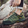 Men's Outdoor Stitching Sneaker Hiking Sports Shoes Low-top - ARMY GREEN