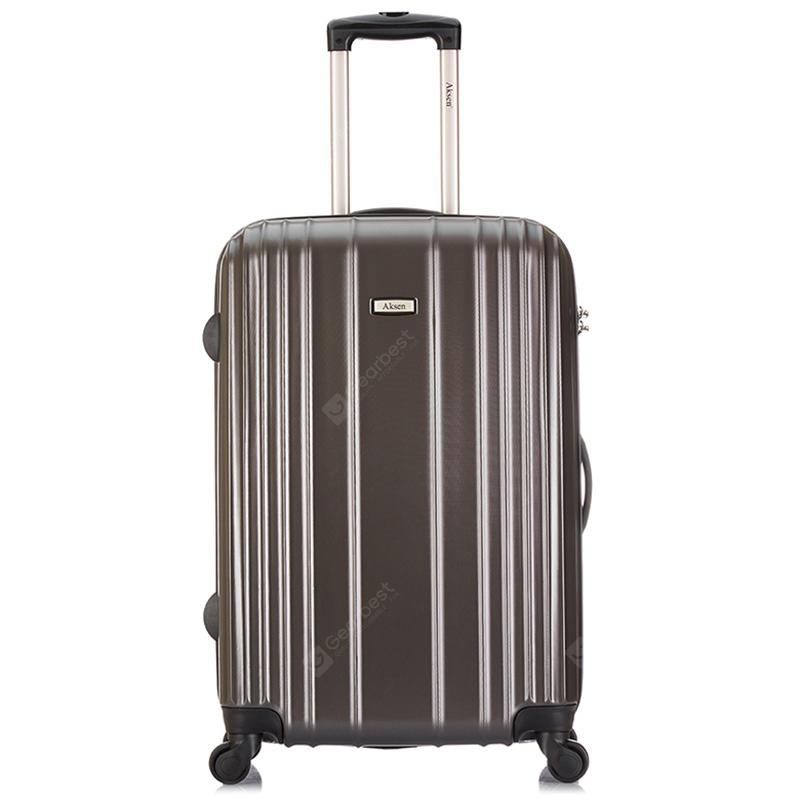 """AKSEN 24 inch Fashion Mute Trolley Travel Hardside Luggage Password Lock - Dark Gray"""