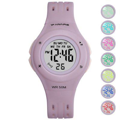 PANARS SB2019092620 Children Colorful Luminous Watch Waterproof Multi-functional Electronic Alarm Watches