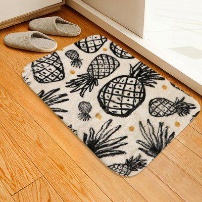 Sketch Pineapple Pattern Cashmere-like Water Absorption Non-slip Carpet Mat