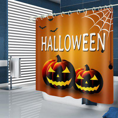 Halloween Pumpkin Pattern Waterproof Shower Curtain