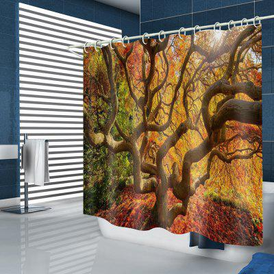 Beautiful Branch Pattern Waterproof Shower Curtain
