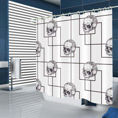 Simple Skull Pattern Waterproof Shower Curtain