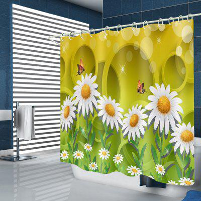 Wildflower vlinder patroon waterdicht Shower Curtain