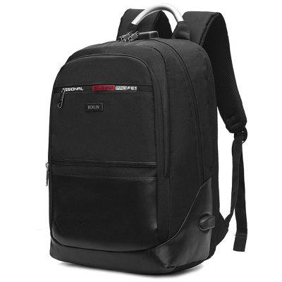 dos homens Fashion Business Casual Backpack minimalista 15,6 polegadas Laptop Bag