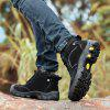 AILADUN Men's Heavy-bottomed Outdoor Sneaker Durable Anti-collision Toe Hiking Shoes - BLACK
