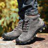 AILADUN Men's Heavy-bottomed Outdoor Sneaker Durable Anti-collision Toe Hiking Shoes - GRAY