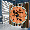 Halloween Witch Pattern Waterproof Shower Curtain - MULTI