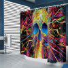 Colorful Skull Pattern Waterproof Shower Curtain - MULTI