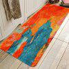 Blue-orange Ink Painting Pattern Cashmere-like Water Absorption Non-slip Carpet Mat - MULTI