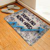 Letters Arrow Pattern Cashmere-like Water-absorbing Non-slip Carpet Mat - MULTI