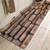 Stone Wall Pattern Cashmere-like Water-absorbing Non-slip Carpet Mat - MULTI