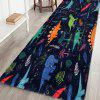 Cartoon Dinosaur Pattern Cashmere-like Water-absorbing Non-slip Carpet Mat - MULTI