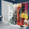 Left and Right Brain Pattern Waterproof Shower Curtain - MULTI