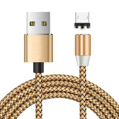 Micro USB Magnetyczne Metalowe Braid Charging Cable 1m