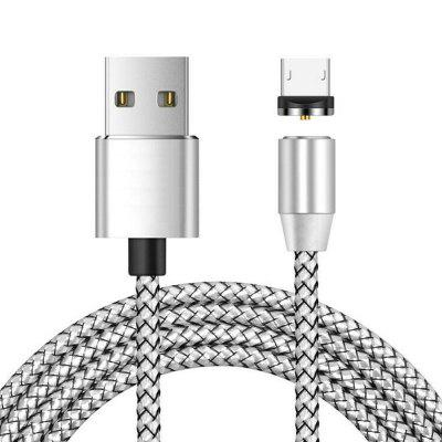 Micro USB Magnetic Metallic Braid Charging Cable 1m
