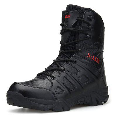 AILADUN Heren Outdoor High-top Combat Boots sportschoenen Solid Color