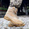 AILADUN Men's High-top Outdoor Military Boots Lace Up Shoes with Non-slip Soles - BEIGE