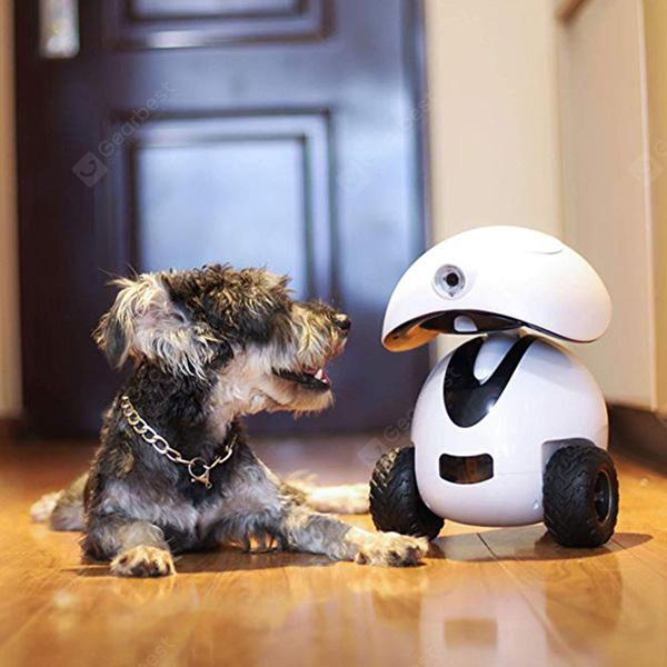 DOGNESS Smart IPet Robot Toy APP Remote Control HD Video Monitor Your Pet for Dogs and Cats - White EU Plug