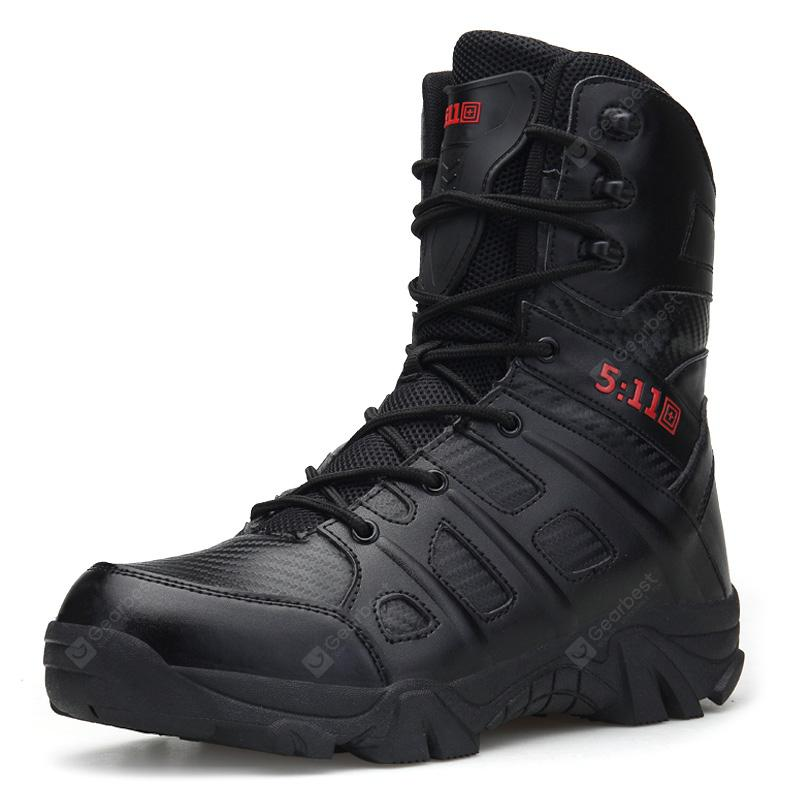 AILADUN Men's Outdoor High-top Combat Boots Sports Shoes Solid Color